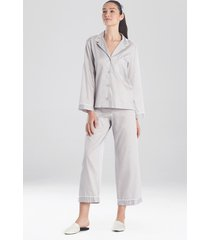 natori cotton sateen essentials sleepwear pajamas & loungewear with piping, women's, 100% cotton, size xl natori