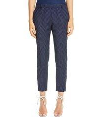 women's altuzarra henri dash stripe skinny pants, size 10 us - blue