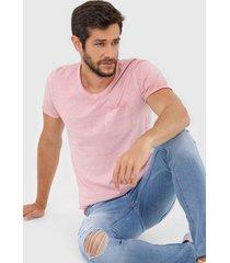 camiseta jack & jones jorkris bas rosa
