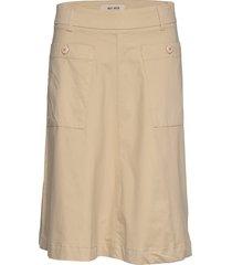 alice cole skirt knälång kjol beige mos mosh