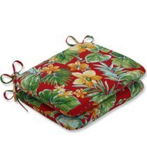 pillow perfect beachcrest poppy rounded corners seat cushion, set of 2