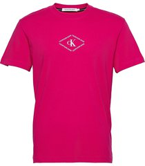 ck monotriangle tee t-shirts short-sleeved rosa calvin klein jeans