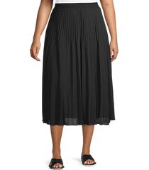 pleated pull-on skirt