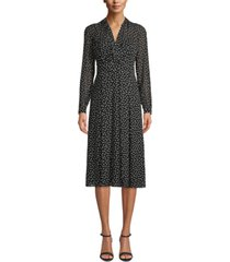 anne klein chiffon printed dress