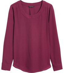 blusa pleat morado banana republic
