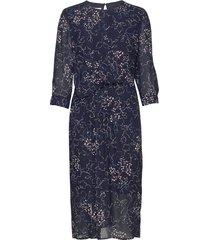 dress woven fabric jurk knielengte blauw gerry weber