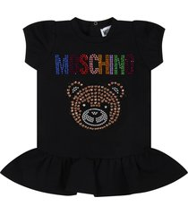 moschino black dress for babygirl with teddy bear