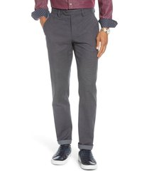 men's ted baker london penguin slim fit classic dress pants, size 36 - grey