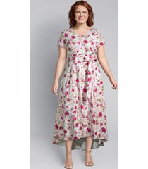 lane bryant women's lena high-low dress 12p multi abstract floral