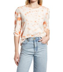 women's c & c california cleo tie dye t-shirt, size x-large - beige