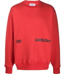 ambush logo print sweatshirt - red