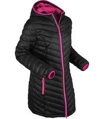 giacca lunga trapuntata ultra leggera con sacchetto (nero) - bpc bonprix collection