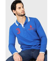 polera royal country of berkshire polo club p/sres azul - calce slim fit
