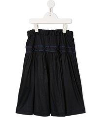 familiar elastic waist skirt - black