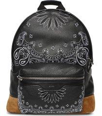 bandana classic leather backpack