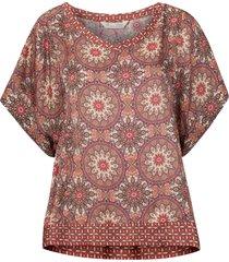 blus honey-coated s/s blouse