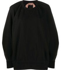 nº21 oversized mesh back sweatshirt - black