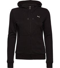 ess hooded jacket tr hoodie svart puma