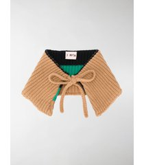 plan c bow detail neck scarf