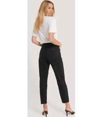 abrand höga smala jeans - black