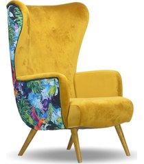 fotel uszak, scandi, nowoczesny, skandynawski