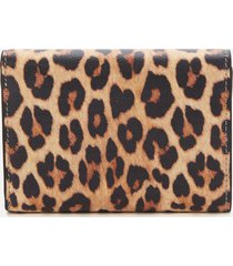furla women's mimi' mini compact wallet - leopard