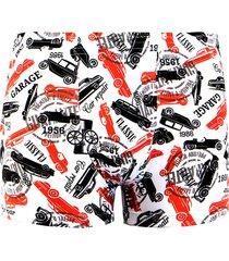 cueca boxer linha noite branco e vermelho