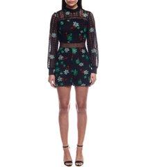 colcci embroidered lace jumpsuit