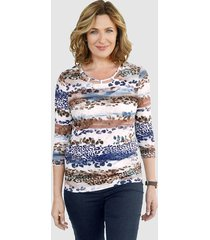 shirt paola marine::bruin::lichtblauw