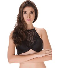 cropped high neck com renda delrio 45519