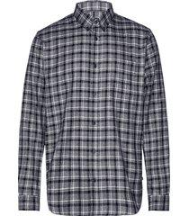 trostol bd winter check skjorta casual grå matinique
