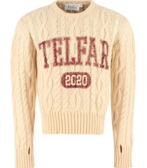telfar cable knit pullover