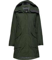 agnes wns coat 3 parka lange jas jas groen didriksons