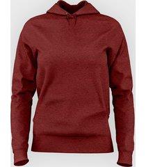 damska bluza z kapturem taliowana (gładka, czerwona)