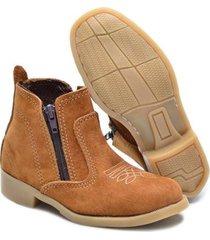 bota bebê cla-clê nobuck couro legítimo zíper