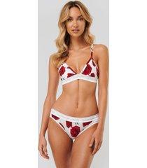 calvin klein coordinate bomullstrosor i bikinimodell - white