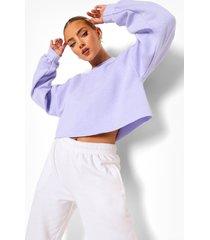 korte acid wash gebleekte sweater, lilac