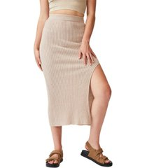 women's match me knit midi skirt
