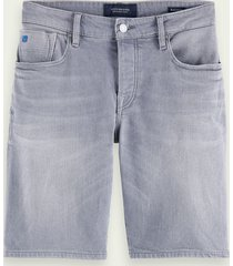scotch & soda ralston short - stone and sand | short van stretch denim