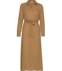 onlalma poly l/s shirt dress solid wvn knälång klänning brun only