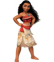 girls adventure outfit set cosplay costume moana disney skirt necklace & wig