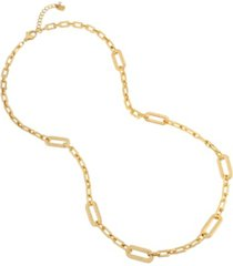 robert lee morris soho geometric link long necklace