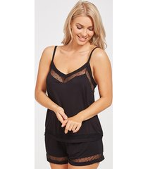 camelia hidden support cami & short set