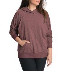 women's bun maternity relax daily maternity/nursing hoodie, size large - pink