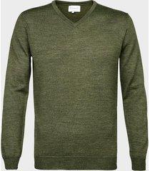 michaelis pullover army merino wol/acryl