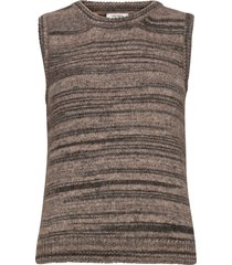 khloe waistcoat knitwear vests-indoor brun nué notes