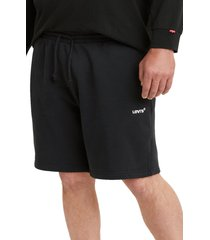levi's(r) premium red tab(tm) sweat shorts, size large in mineral black at nordstrom