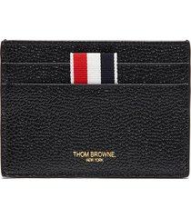 tricolour tab pebble grain leather card case