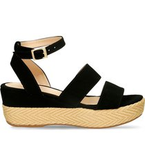 sandalias de plataforma negro bata grina mujer