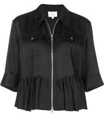 cinq a sept helene peplum jacket - black